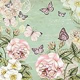 3capas de papel impreso, tejido servilletas–Botánico verde, pack de 20