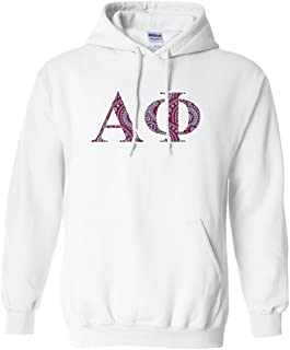 Apparel - Alpha Phi, Greek Letters Design Hooded Sweatshirt