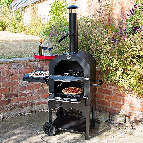 Wido Charcoal Pizza Oven Smoker BBQ Grill Wood Fired Outdoor Garden