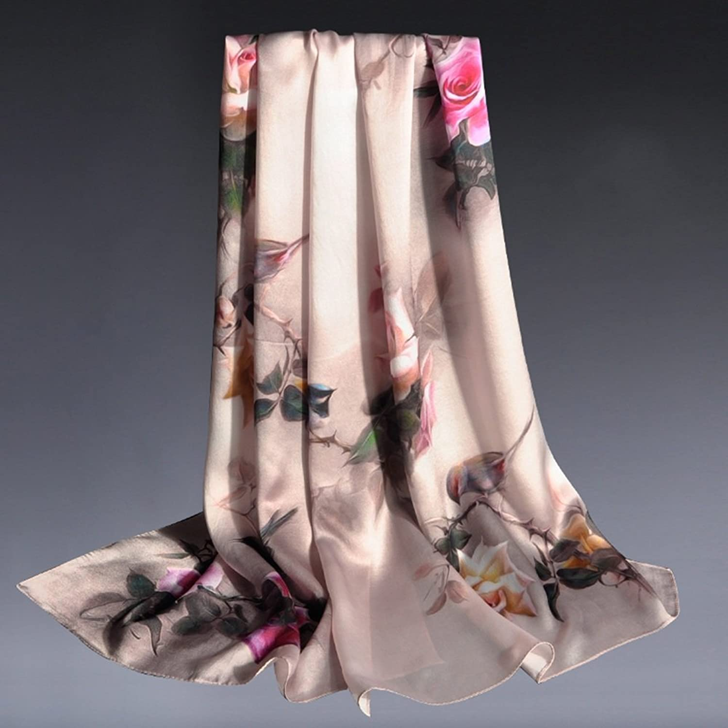 HAIYU Scarves Scarves 100% Mulberry Silk Women Party Casual Fall Winter 7 colors (color   6)