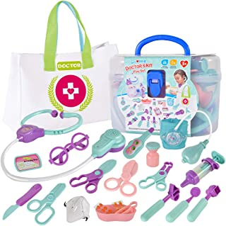 Delphinus Kids Medical Kit, 22psc Play Doctor Kit for Kids and Toddlers Durable Kids Doctor Kit Kids Doctor Play Set Packe...
