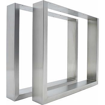 2 patas de mesa de acero inoxidable - modernas y elegantes patas de metal, perfectas para mesas de escritorio, mesas de comedor y bancos.: Amazon.es: Bricolaje y herramientas