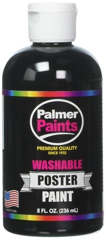 Palmer 56052-6 Washable Poster Paint, 8 oz, Black