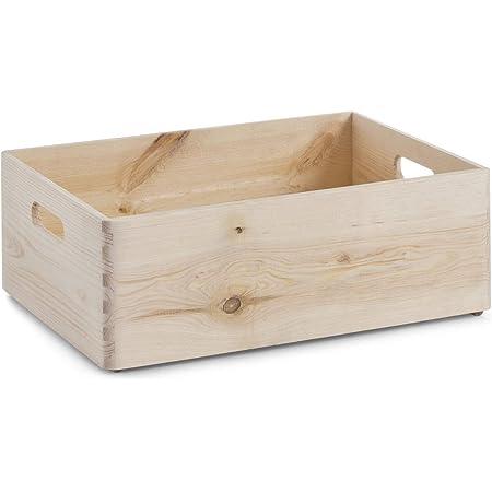 Zeller 13514 - Boite Multi-Usage en bois de conifère, 40 x 30 x 15 cm