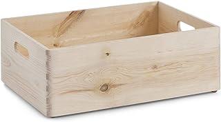 Zeller 13145 - Cajón multiusos de madera blanda conífera, 40 x 30 x 15 cm