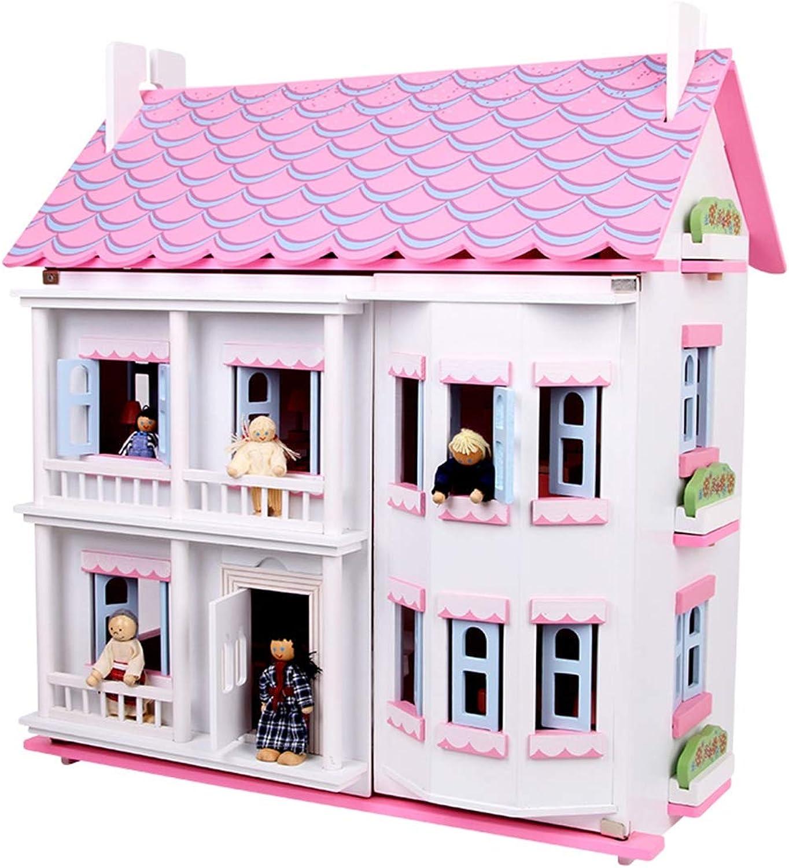 te hará satisfecho LWKBE Casa de muñecas de Madera con con con Muebles Conjunto de Regalos, DIY Villa Miniatura Jugar Juguetes para Niños, Creativo Mejor Regalo de cumpleaños de Navidad para los Amantes Niños y niñas  almacén al por mayor