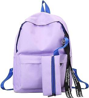 Bolsas Escolares Mujer Mochila Escolar Ni/ña Juveniles Mochilas Simple Estudiante 2019 Oto/ño Ni/ños Deportes Al Aire Libre ZOELOVE Bolso de Lona de Arco de Estudiante 4PCS,Black