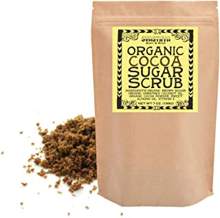 Svasthya Organic Cocoa Sugar Scrub for Face and Body 100% All Natural Deep Cleansing & Exfoliating to Renew and Nourish Skin, 7 oz