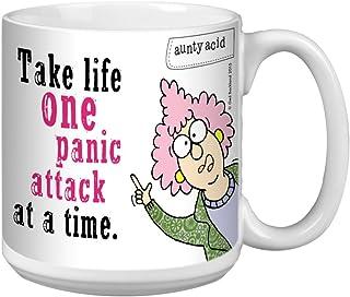 Tree-Free Greetings Extra Large 20-Ounce Ceramic Coffee Mug, Aunty Acid One Panic Attack