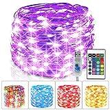 Guirnalda Luces Multicolor, 10M 100 LED Luces de Hadas con Control Remoto, 16...
