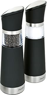 Modernhome GSM-609 Gravity-Activated Electric Salt and Pepper Mill Set, Black