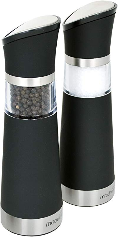 Modernhome GSM 609 Gravity Activated Electric Salt And Pepper Mill Set Black