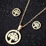 niuziyanfa Co.,ltd Collar de Acero Inoxidable, Conjuntos de Joyas para Mujer, joyería, Collares de Mariposa Animal, Colgantes, Pendientes Bonitos, Regalos para niños