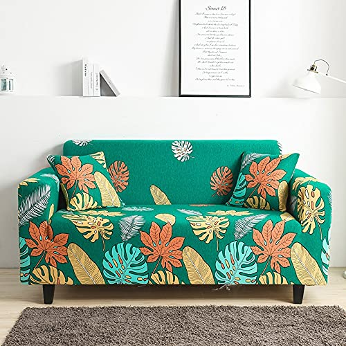 Funda de sofá elástica elástica Ajustada Ultra Spandex Funda de sofá para Sala de Estar Funda de poliéster Funda de sofá Profunda A24 1 Plaza