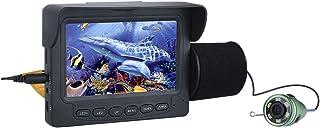 Fish Finders Buscador de Pescado de 4,3 Pulgadas, para Pesca en Hielo Pesca en el mar, Lámpara LED infrarroja de 6W Cámara...