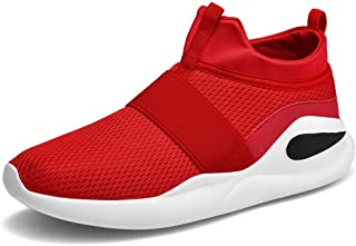 ZUAN Athletic Shoes for Men Sports Shoes Slip On Style Mesh Corporeal Hollow Lightweight Pliant MD Outsole
