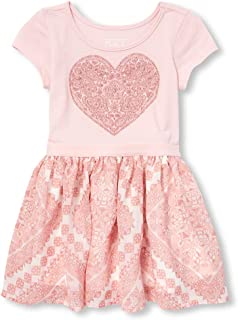 The Children's Place Girls' Baby Casual Printed Novelty Dress