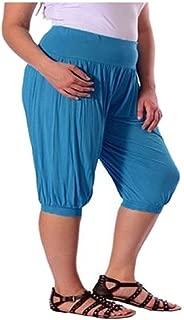 Noir 44-46 Pantalon Sarouel Femme Ample Baggy Ali Baba Grande Taille Extensible Neuf Purple Hanger