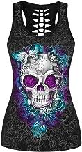 Mosszra Multiple Digital Print Dark Punk Fashion Sexy Slim Fit Tank Top Vest