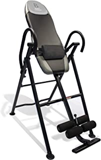 Body Vision IT9550 Deluxe Inversion Table with Adjustable Head Pillow & Lumbar Support Pad, Gray - Heavy Duty up to 250 lbs