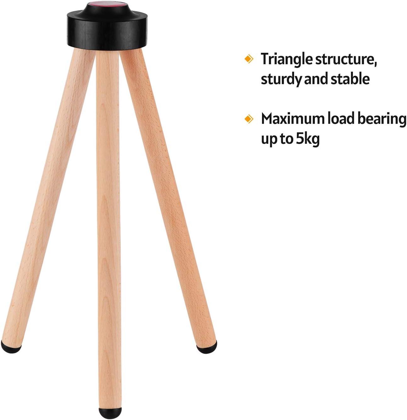 negaor Support de plancher de haut-parleur intelligent Support de haut-parleur en bois massif Remplacement daccessoire de haut-parleur intelligent pour HomePod support de sol homepod