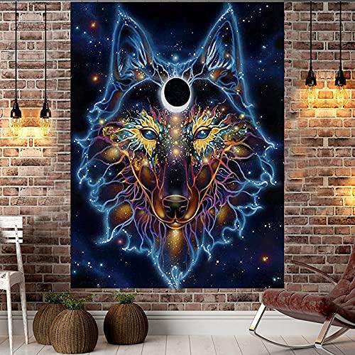XGguo Tela de Fondo Animal león Lobo