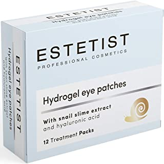 Estetist Under Eye Patches Eye Mask for Puffy Eyes, Dark Circles and Under Eye Bags Treatment With Hyaluronic Acid and Snail Slime Extract