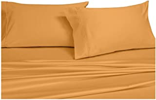Royal Hotel's Solid Gold 600-Thread-Count 4pc California-King Unattached-Waterbed Sheet Set 100-Percent Cotton, Sateen Solid, Deep Pocket