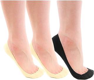 Lalu フットカバー レディース 脱げない 浅履き 滑り止め ソックス 靴下 3足セット(浅履きタイプ)