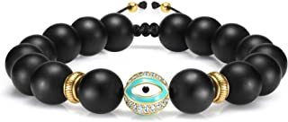 Cultured Black Obsidian Crystal Bracelet, Protection Evil Eye Bracelet and Healing Stone Beads 7 Chakra Bracelets, Jewelry...