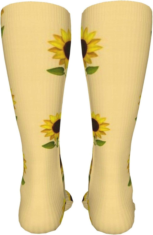 Girasol Amarillo Women Premium High Socks, Stocking High Leg Warmer Sockings Crew Sock For Daily And Work