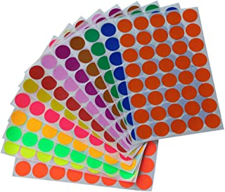 Royal Green Round Stickers 3/4 inch in 13 Assorted Colored Sticker dots 19mm - 520 Pack