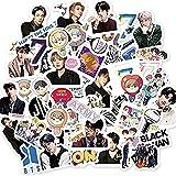 Kpop BTS Aufkleber 55Pcs BTS Map of The Soul 7 Aufkleber Cute BTS Sticker Set für Laptop Notebook Wasserflasche