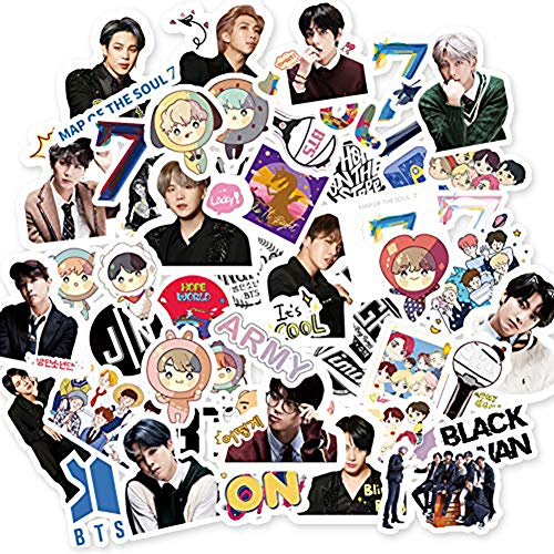 55 pegatinas BTS de BTS, Map of the Soul, 7 pegatinas, diseño de dibujos animados,...