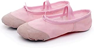 Colourful Day 2019 Professional Ballerina Ballet Dance Shoes Canvas Flats Soft Split Cow Leather Latin Dance Training Shoes Girls Toe
