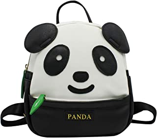 KINGSEVEN Womens Girls Cute Panda Pattern Backpack Purse Pu Leather Travel Bag Small Casual Shoulder Daypack
