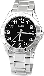 Casio Men's Black Dial Stainless Steel Analog Watch - MTP-1308D-1BVDF
