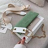 Mdsfe Bolso de Moda para Mujer Bolso de Mensajero Bolso de Hombro Cartera Bolso de diseñador Bolso pequeño Bolso de Mensajero 2020 Bolso Mujer - H111-2037 Verde, 19X14.5X7.5CM, China