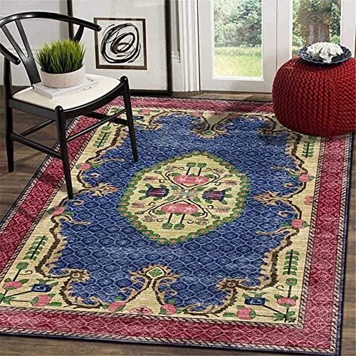 Teppich im Retro-Stil, weich, groß, für Wohnzimmer, Schlafzimmer, Küche, Garderobe, Nachttisch, Kinderzimmer, Stuhlmatte (Größe: 120 x 160 cm)