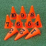 Jjxlj Digital Sign Barrel Football Basketball Équipement D'entraînement Assist Obstacle Piste Marqueur Tube Obstacle Kindergarten Sport Cônes 10 Pièces