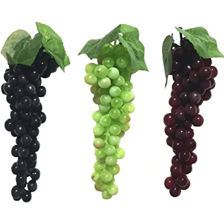 Cake Topper Artificial Fruit Millinery Fruit Red Orange Grapes Faux Fruit The Blue Hutch GB101 Fake Grapes Wreath Supplies