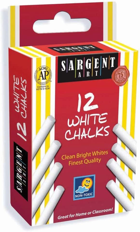 Sargent Art 66-3012 Chalk 12-Count White Sale Special Max 82% OFF Price