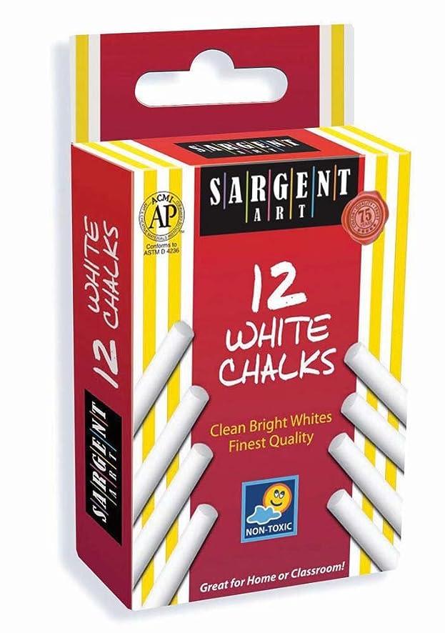 Sargent Art 66-3012 12-Count White Chalk