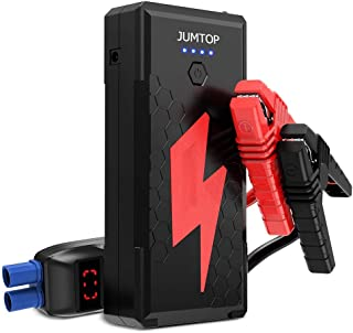 JUMTOP QDSP N12 2500A Peak 20800mAh Portable Car Jump Starter (8.0L Gas/6.5L Diesel Engine) Auto Battery Booster & Power Bank and Phone Charger with Dual USB Smart Charging Port and LED Flashlight