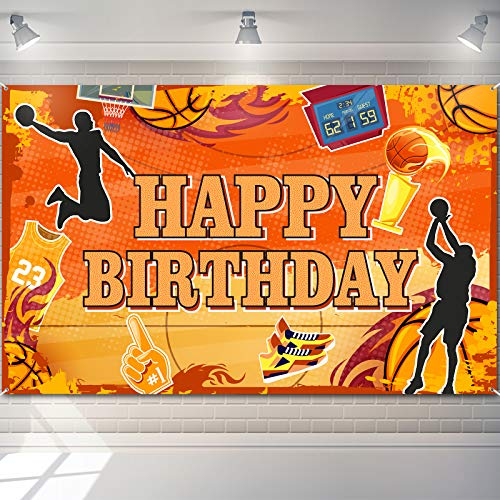 Basketball Happy Birthday Backdrop Basketball Themed Photography Background Sports Theme Birthday Party Decorations Basketball Court Stars Photo Booth Props