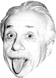 Albert Einstein (Tongue) Celebrity Mask, Card Face and Fancy Dress Mask