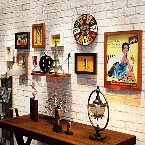 KTDT Collage-Bilderrahmen 8er-Set, Multi-Pack-Fotorahmen-Set Wandgalerie-Kit, DREI 11,3 x 15,2 cm, Vier 15,2 x 20,3 cm, eine 27,7 x 37,7 cm