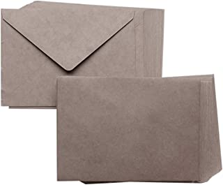 A7 Size Kraft Envelope and Card Set | Pre Folded Card 5x7