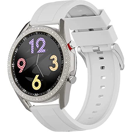 (Renewed) Zebronics ZEB-FIT4220CH Smart Fitness Watch with Call Function via Built-in Speaker and Mic, SpO2, BP & Heart Rate Monitor, IP67 Water Resistant, 7 Sports Mode (Silver)