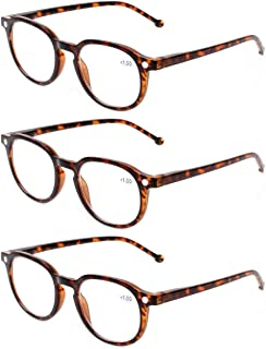 49f7077b30a8 READING GLASSES 3 Pair Retro Round Spring Hinged Readers Great Value  Quality Glasses for Reading